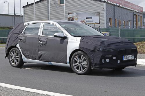 2017款现代i30 伊兰特GT最新谍照高清图片